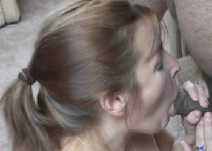 Curvy MILF Liisa sucks two dicks